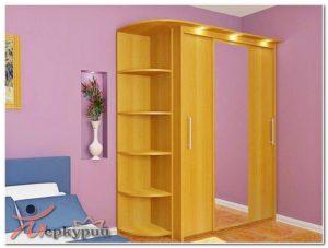 Шкаф 3-х с этажеркой